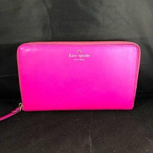 Kate Spade Large ZIP Travel Wallet - Hot Pink